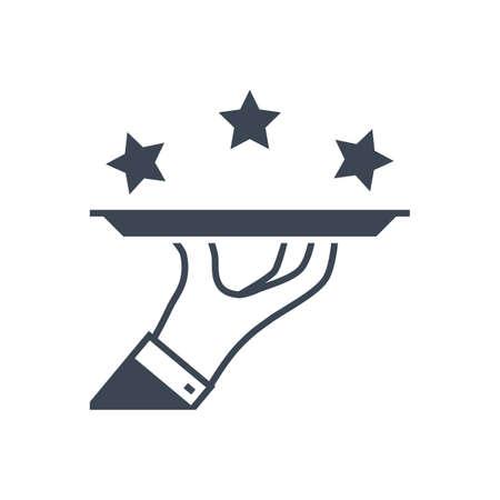 Premium Services Vector Glyph Icon Illusztráció