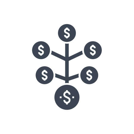 Return on Investment Vector Glyph Icon