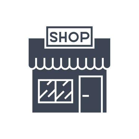 Store Vector Glyph Icon Ilustração