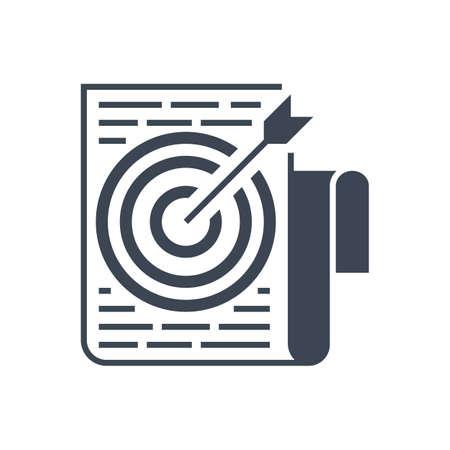 Target Keywords Vector Glyph Icon Reklamní fotografie - 150627772