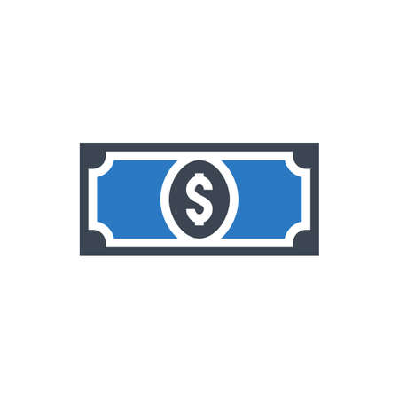Dollar Related Vector Glyph Icon. Isolated on White Background. Vector Illustration. Ilustração