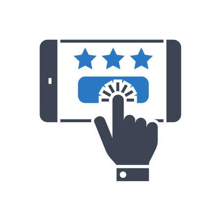 Customer Reviews Vector Glyph Icon Stock Illustratie