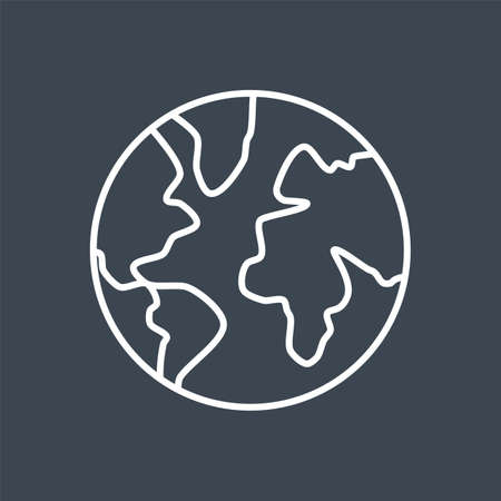 Globe related vector thin line icon 向量圖像