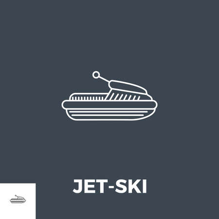 Jet-Ski Line Icon