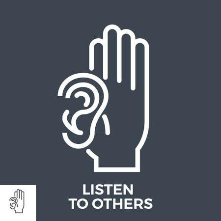 Listen to others 矢量图像
