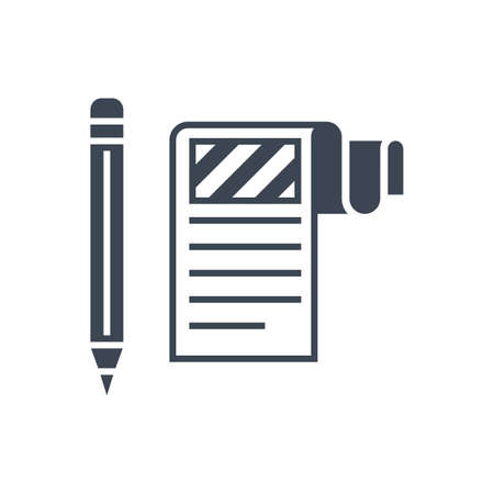 Article Submission Vector Glyph Icon