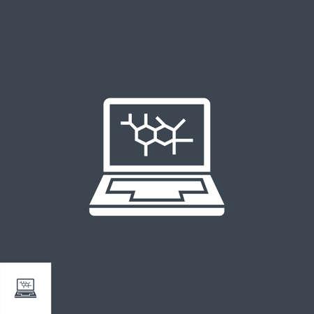 Computer Diagnostic related vector glyph icon. Ilustração