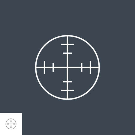 Aim Related Vector Thin Line Icon. 版權商用圖片 - 155748533