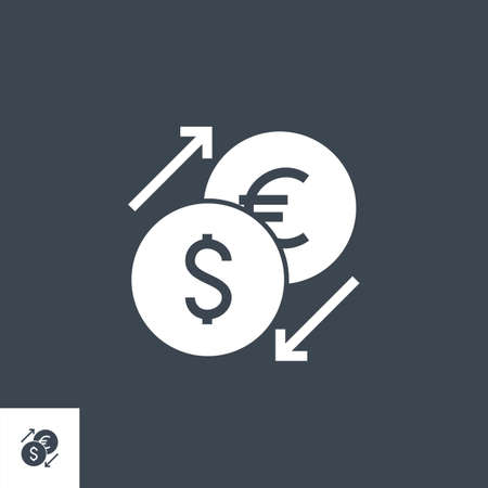 Currency Exchange related vector glyph icon.