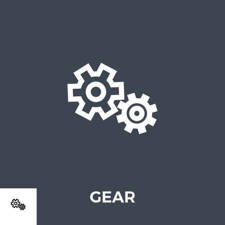 Gear Vector Glyph Icon