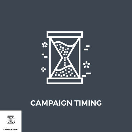 Campaign Timing Icon Stock fotó - 155748627