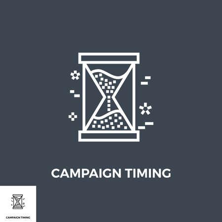 Campaign Timing Icon Illusztráció