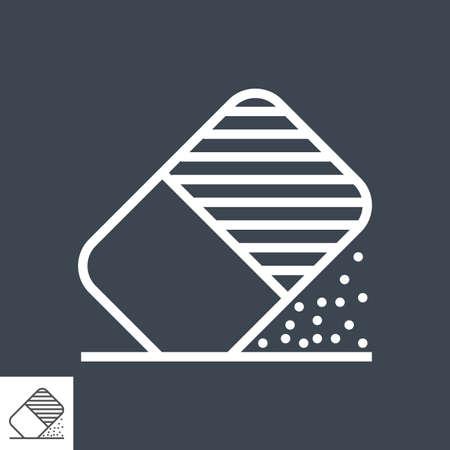 Eraser tool line icon