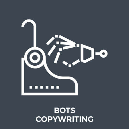 Bots copywriting icon