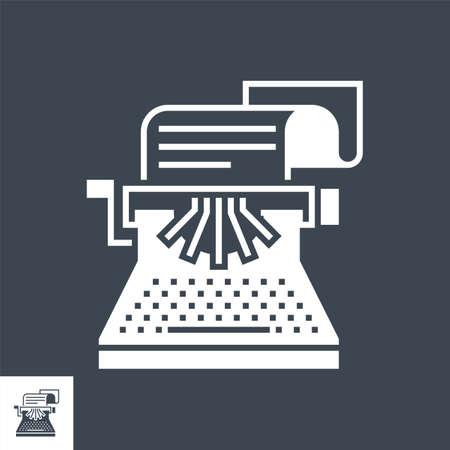 Copywriting Vector Glyph Icon