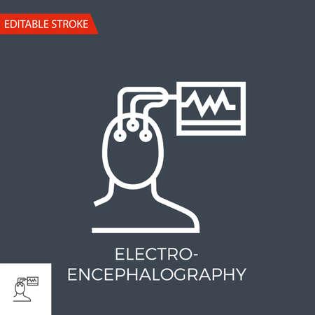 Electroencephalography Vector Icon