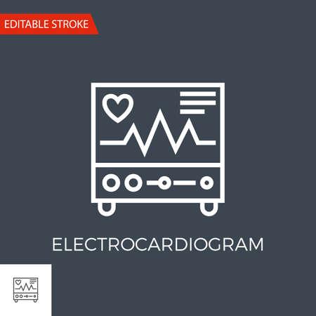 Electrocardiogram Vector Icon