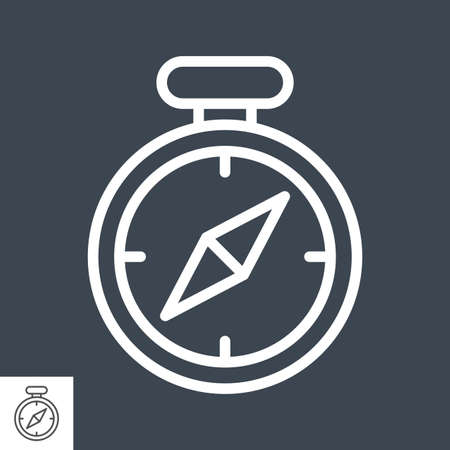 Compass Flat Icon Illusztráció