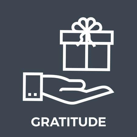 Gratitude Thin Line Vector Icon