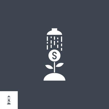 Growth Income related vector glyph icon. Illusztráció