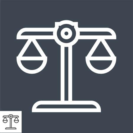 Libra Thin Line Vector Icon