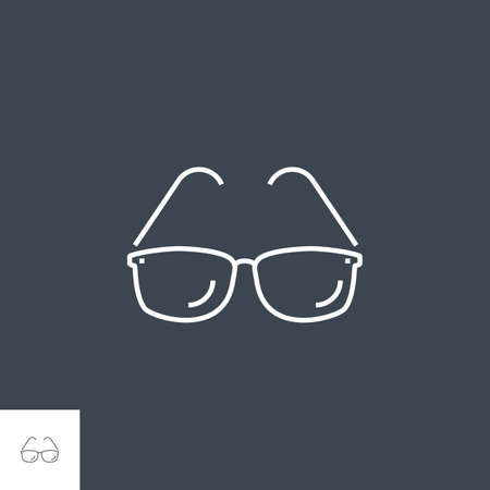 Sunglasses Related Vector Line Icon.