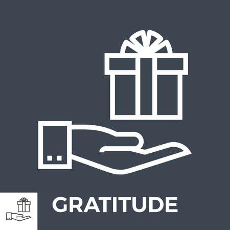 Gratitude thin line vector icon Illusztráció
