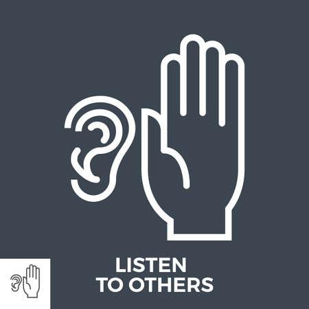 Listen to others Ilustracja