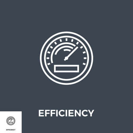 Efficiency Line Icon Ilustracja