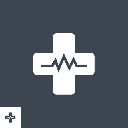 Medical Cross related vector glyph icon.
