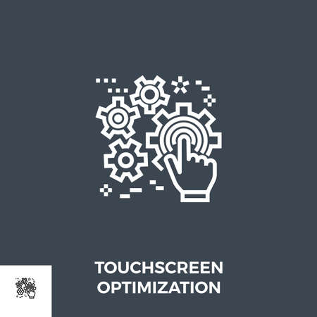 Touchscreen Optimization Line Icon