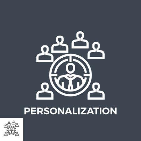 Personalization line icon