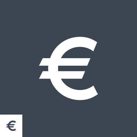 Euro Sign related vector glyph icon. 向量圖像