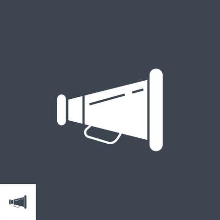 Loud Speaker related vector glyph icon. Çizim