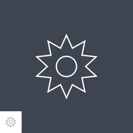 Sun Related Vector Line Icon. Иллюстрация