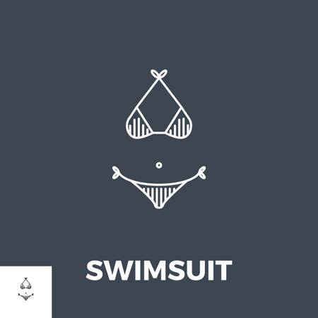 Swimsuit Icon Vector.