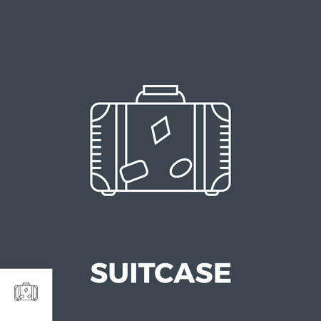 Suitcase Related Vector Line Icon.