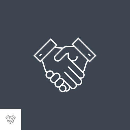 Handshake Related Vector Line Icon