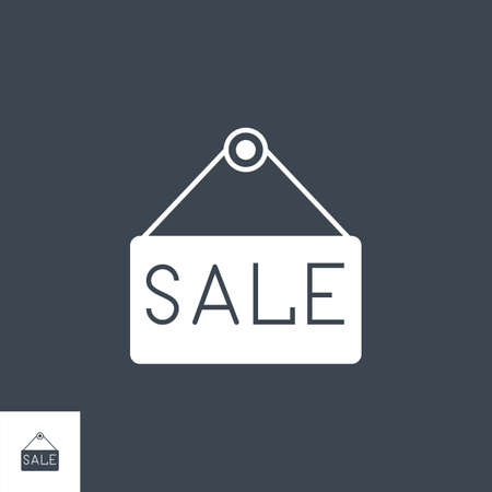Nameplate Sale related vector glyph icon. 矢量图像