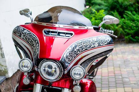 Motorcycle tires The most popular. Moto season is open. Motobike elements Foto de archivo