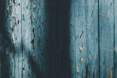 Vintage painted wooden background. Wooden texture blue. Texture of Wood blue panel for background