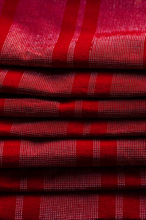 red fabric texture. red cloth. Material for designers red fabric background Stock Photo