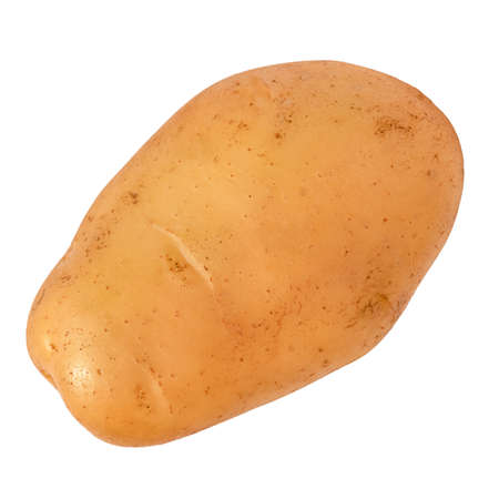 potatoes isolated. Raw vegetable on white background.