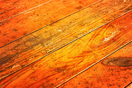 Warm colored wooden boarding texture. Orange wood texture.