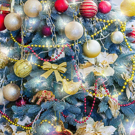 Christmas tree background. New year and christmas concept. Фото со стока