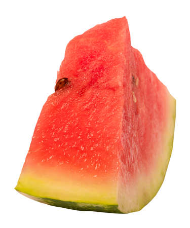 Sliced watermelon isolate on a white background. Summer food.