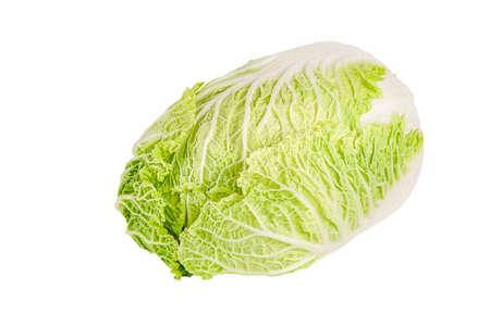 Fresh chinese cabbage on white background, studio shot. Cabbage isolate.