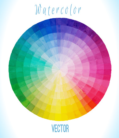 polychromatic: Multicolor vector spectral circle. Hand drawn watercolor illustration. Illustration