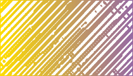 curvilinear: Abstract vector background with chaotic stripes. Yellow and purple stripes on light background. Rectangular background with stripes. Illustration