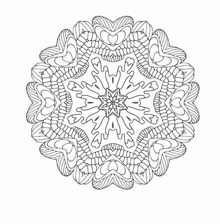 Kreisförmigen Muster von traditionellen Motiven und alten orientalischen Ornamenten. Hand gezeichnet Hintergrund. Kann für Banner, Einladung, Hochzeitskarte, Scrapbooking und andere verwendet werden. Runde Verzierung Muster. Standard-Bild - 38146122